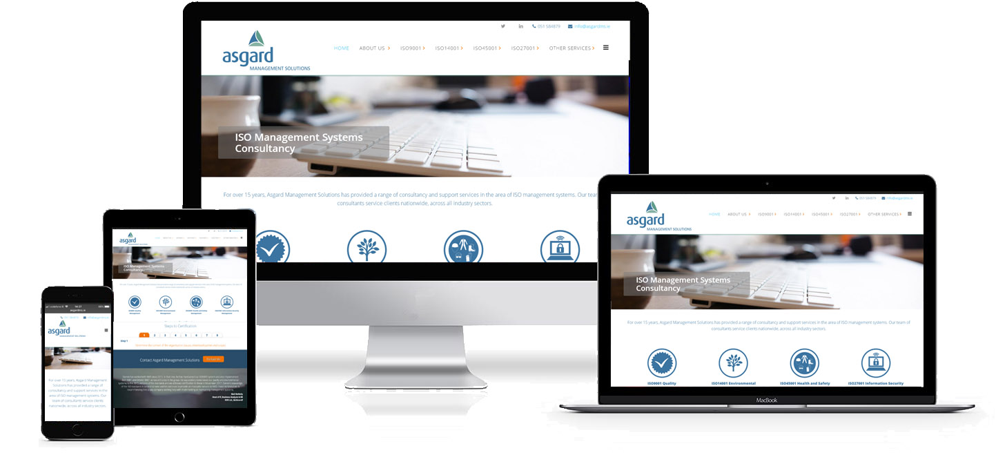 asgard management solutions responsive website design project image